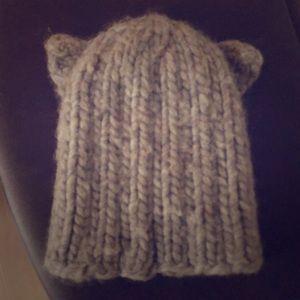 Eugenia Kim 100% Peruvian wool knit cat hat